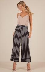 Memory Lane pants in navy stripe