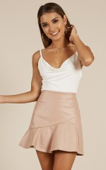Make You Wild skirt in pink leatherette