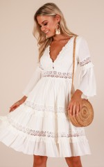 Crowned Jewel dress in white