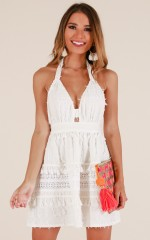 Prince Charming dress in white linen look