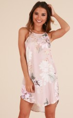 Complicated Love dress in blush floral