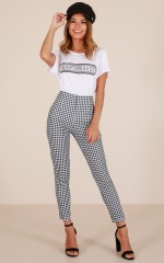 Only A Feeling jeggings in black gingham