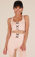 Get Going Crop Top in Nude