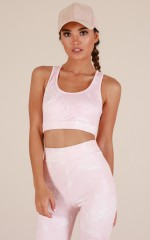 Push Through Crop Top in Blush Print