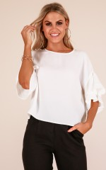 Follow Back top in white