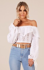 Take A Break top in white lace