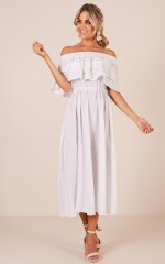 Spring Fling dress in white stripe
