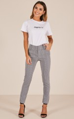 Mariana pants in black houndstooth