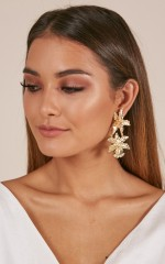 Like Clockwork earrings in gold