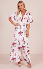 Make an Effort maxi dress in white floral