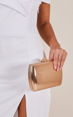 Back To Good clutch bag in rose gold