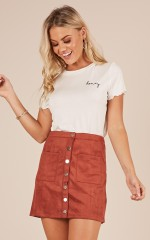 Golden Gate skirt in rust suedette