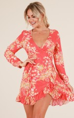 Blossom Bloom dress in red floral