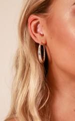 Leaving You earrings in silver
