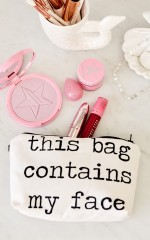 Face Container makeup pouch in white