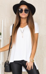 Back To Basics top in white