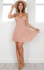 Laid Back dress in blush print