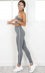 Make A Move Tights in Charcoal Marle