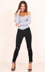 Bonnie skinny jeans in black denim