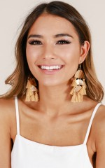 Try It Out earrings in tan