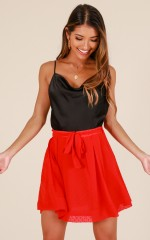 Moment In Time skirt in red