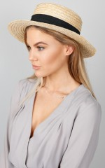 By The Harbour Hat in Natural and Black