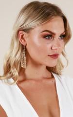 Fall Apart earrings in gold