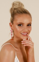 Figured You Out earrings in pink