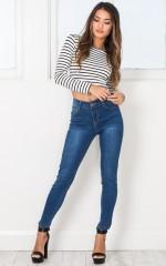 Giselle skinny jeans in dark wash denim