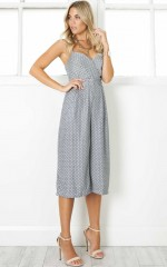 Incentive Jumpsuit in grey polkadot