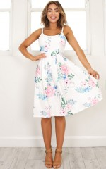 One Reason Dress in white floral