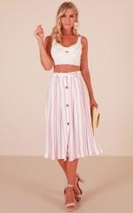 Alluring skirt in blush stripe