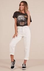 Alice mum jeans in white