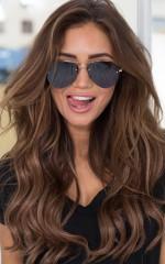 Stare Down Sunglasses in Black and Gold