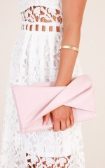 Start Something clutch bag in blush