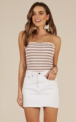 Vision Of Love top in pink stripe