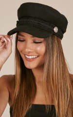 Boss Woman Conductor hat in black