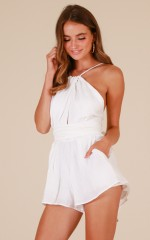 Shine Together playsuit in white