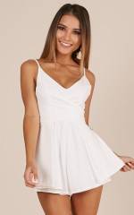 Wish You Would playsuit in white