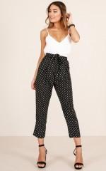 Zero Problems pants in black polka