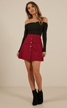 Crown Jewels Skirt in Wine
