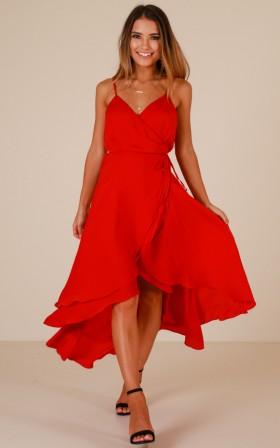 Between Fantasy dress in red