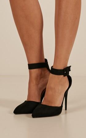 Billini - Rozalia heels in black micro