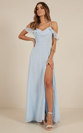 Sway Away maxi dress in blue