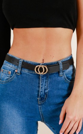 Gold Digger belt in black and gold