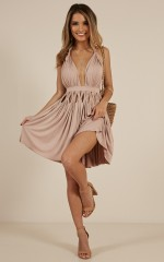 Too Hot To Handle dress in Mocha