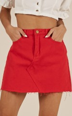 Bound To Happen skirt in red