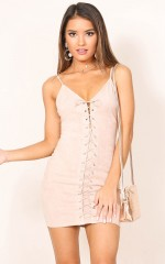 Wild Time dress in beige