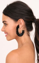 Wasted Time earrings in black and gold