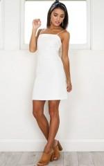 Deep Breath Dress in white